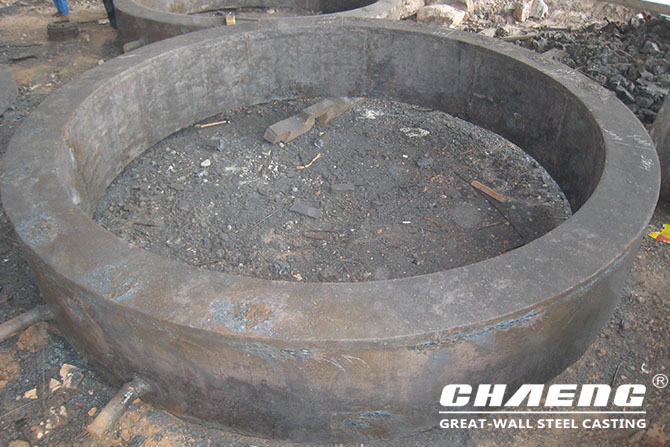 steel casting tyre for rotary kiln